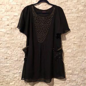 Dresses & Skirts - Studded chiffon party dress!!